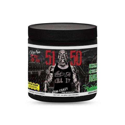 Rich Piana, 5% Nutrition, 5150 High Stimulant, Pre-Workout-GREEN APPLE