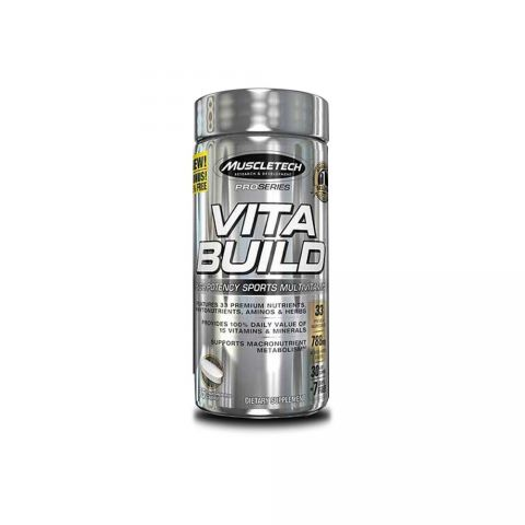 MuscleTech Vita Build, 75 caplets, Unflavoured