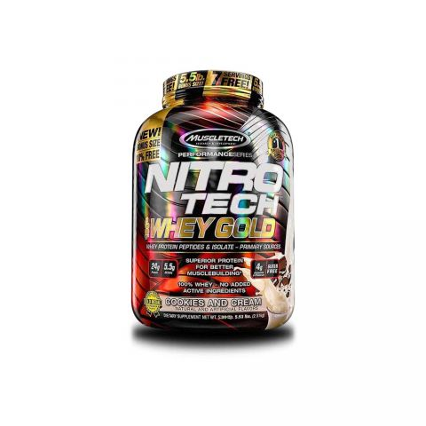MUSCLETECH, PS NITROTECH, WHEY GOLD, 5.54 LBS