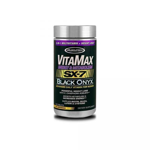 MUSCLETECH VITAMAX Energy & Metabolism SX-7 Black Onyx (WOMEN)