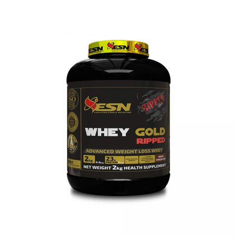 ESN, WHEY GOLD RIPPED (SWISS CHOCOLATE), 2 KG, 4.4 LBS