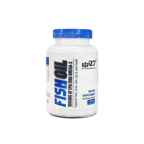 HP27, FISH OIL WITH OMEGA 3, 1000 MG, 100 SOFTGELS CAPS