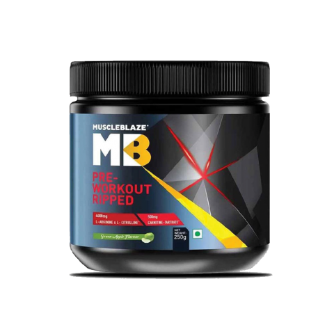 MuscleBlaze, PRE-WORKOUT RIPPED, 250 G