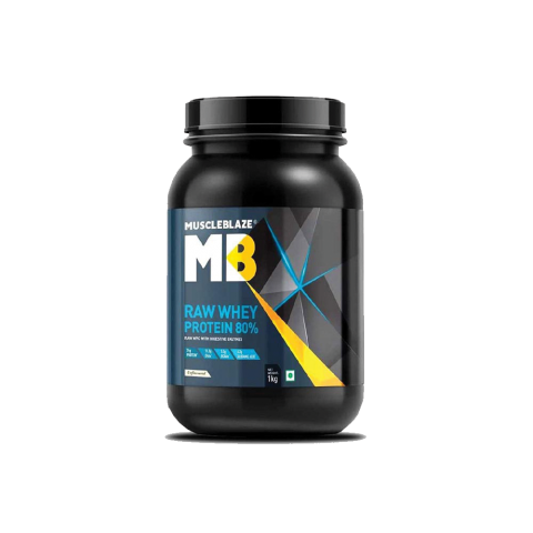MB, RAW WHEY PROTEIN, 80%, 1KG (UNFLAVORED)